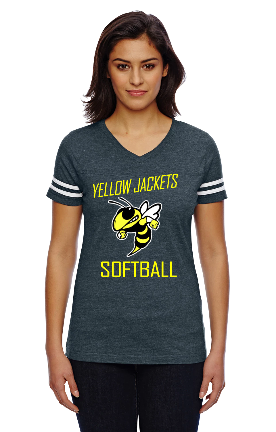 3b36d7698 Yellow Jackets Softball Ladies Jersey - Wavemakers Custom Apparel & More